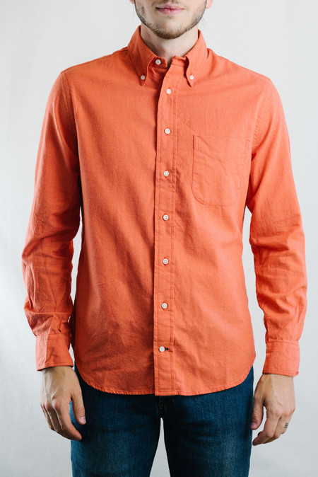 Gitman Vintage Flannel Shirt (Orange)
