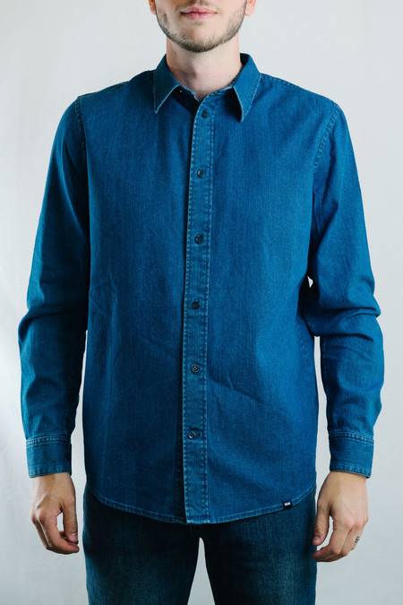 Wood Wood Flint Shirt (Blue Heavy Rinse)