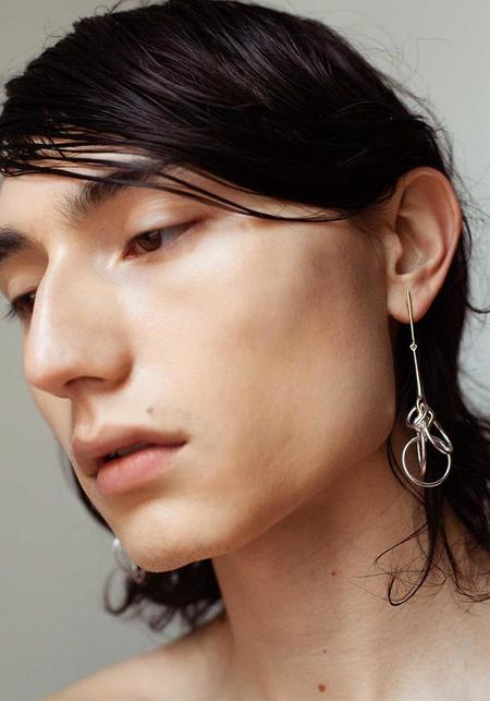 Quarry Sila Earrings - Brass/Sterling Silver