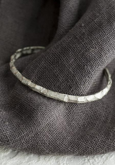 Tego Faceted Cuff Bracelet - Sterling Silver