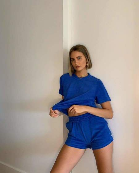 Araminta James Terry Towelling Set - French Blue