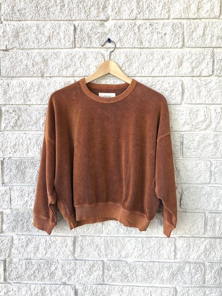 The Great. The Microterry Teammate Sweatshirt - Rust