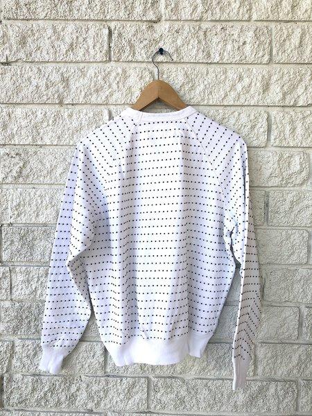 The Great. The Swiss Dot College Sweatshirt - True White