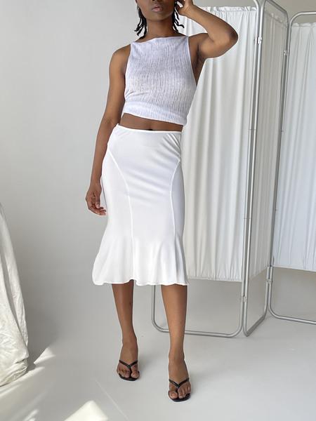 Vintage Versace Mermaid Skirt - White