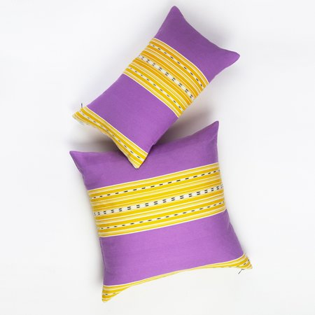 Archive New York Cantel Pillow - Orchid/Mustard