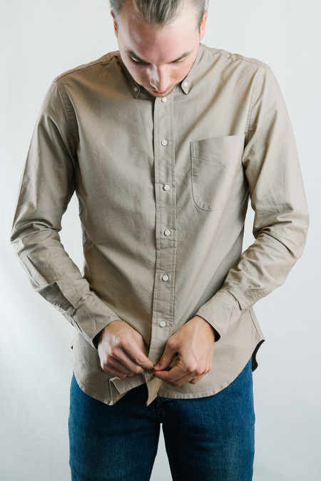 Gitman Vintage Overdye Oxford Shirt - Toast