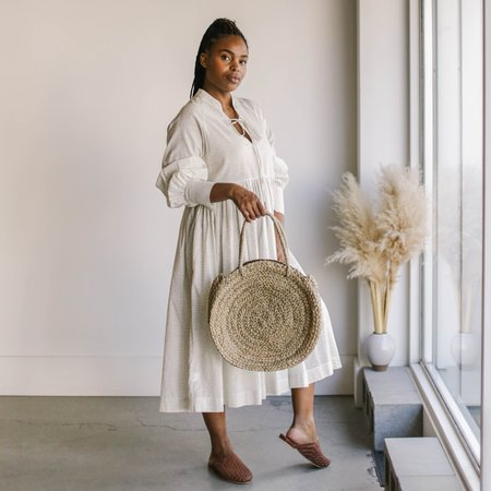 Scandic Gypsy Round Straw Tote - natural