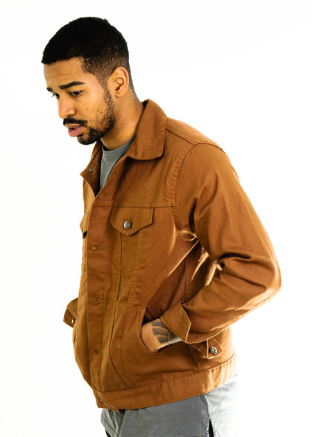 3Sixteen Type 3s Jacket Duck Canvas - Orange