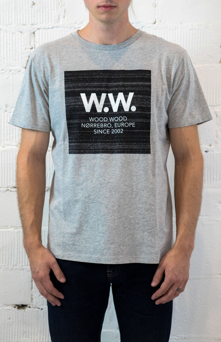 Wood Wood WW Square T-Shirt - Grey Melange
