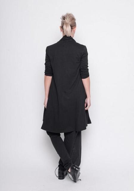 BLACK by K&M Shawl Collar Long Jersey Cardigan
