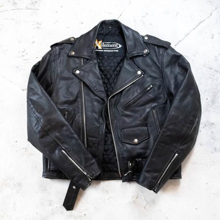 vintage leather biker jacket - black