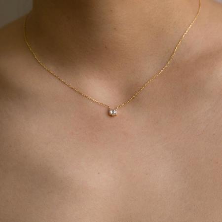 Jennie Kwon Designs Diamond Baguette Step Necklace