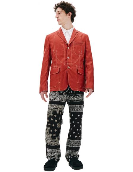 Junya Watanabe Red Linen Jacket