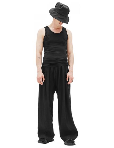 Balenciaga Black Cotton Tank Top