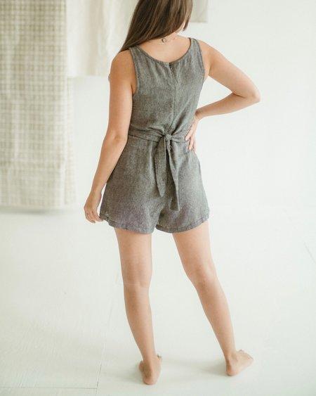 Kat Seaton The Tie Romper - Slate