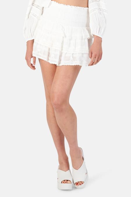 LoveShackFancy Zeta Skirt - White