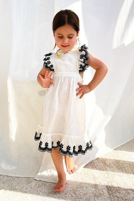 KIDS NEVER FULLY DRESSED NFD Indie Frill Dress - WHITE