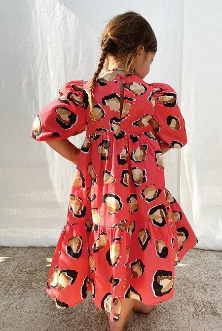 KIDS NEVER FULLY DRESSED NFD Orlagh Dress - Pink Leopard