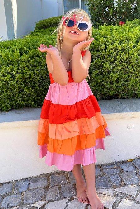 Kids NEVER FULLY DRESSED NFD Sunrise Tiered Dress - Multi