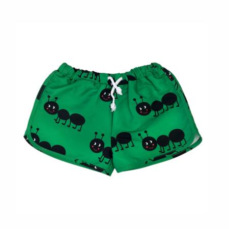 kids Hugo Loves Tiki Ants Swim Trunks - green