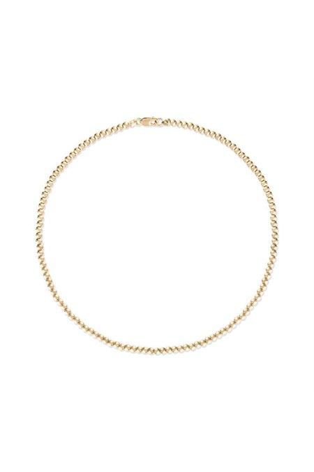 """Alexa Leigh 16"""" 3mm Ball Necklace - Gold"""
