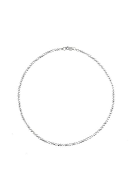 """Alexa Leigh 15"""" 3mm Ball Necklace - Sterling Silver"""