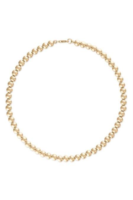 """Alexa Leigh  16"""" 4mm Ball Necklace - Gold"""