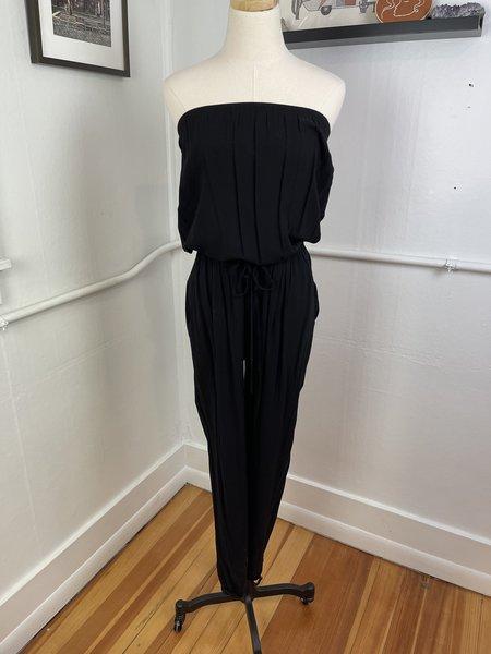[Pre-Loved] Velvet by Graham & Spencer Strapless Jumpsuit - Black