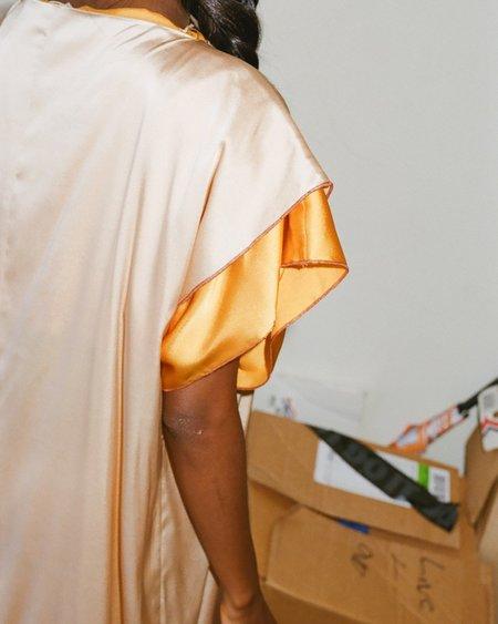 Baserange Say Dress - Orange/Tan