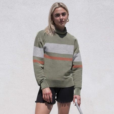 Nagnata Retro Rib Sweater - Sage