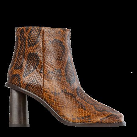 Rejina Pyo Alana Leather Python Effect Boot - Orange