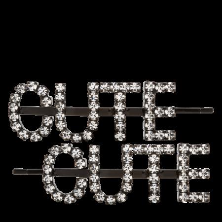 Ashley Williams Cute Hair Pins - clear