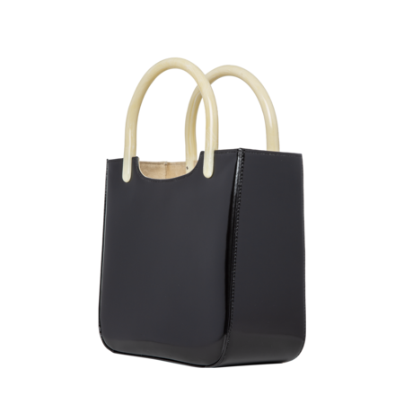 BY FAR Eric Semi Patent Leather Bag - Black