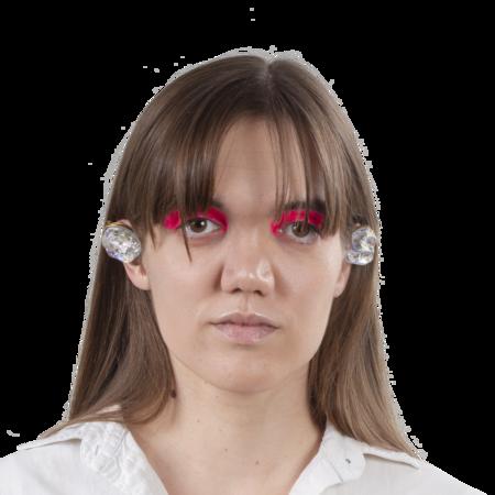 TETIER BIJOUX Iridescent Plastic Earrings