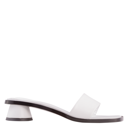 BY FAR Sonia Leather Mule - Optic White