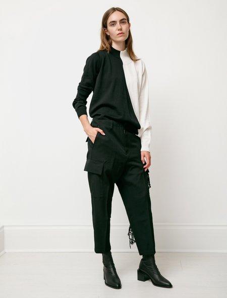 Y's by Yohji Yamamoto Gabardine Cargo Pants - Black