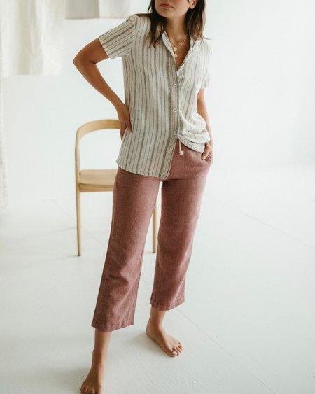 Kat Seaton The Drawstring Pant - Brick