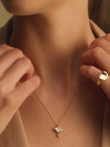 Jenny Bird Denni Pendant Necklace - High Polish Gold
