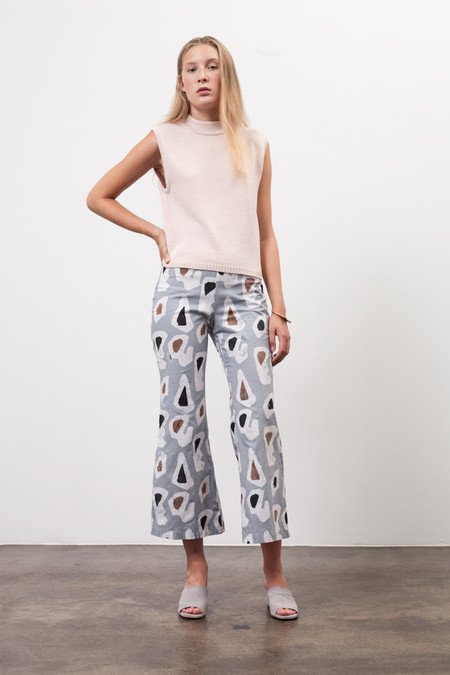 Osei-Duro Veronica Trouser in Grey Platelets
