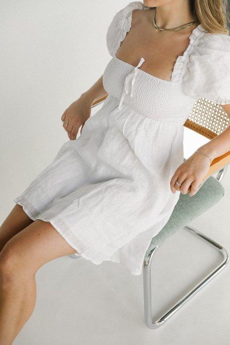 Faithfull the Brand Miguelina Mini Dress - White