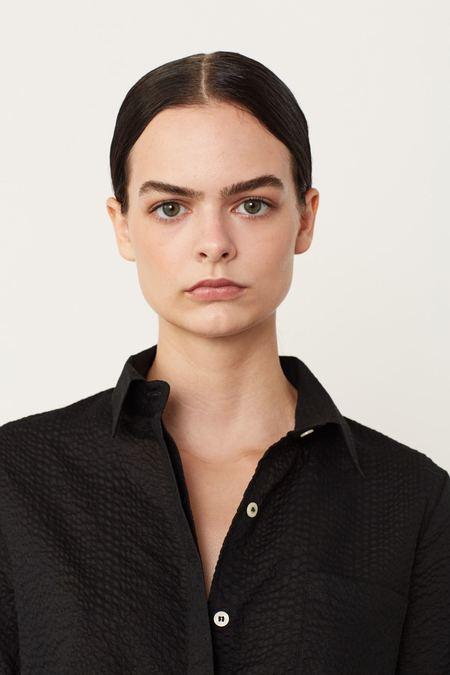 Megan Huntz Camp Shirt - Black/Ecru