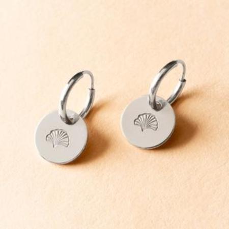 Amara Blue Designs Gingko Small Hoop Earrings - Sterling Silver