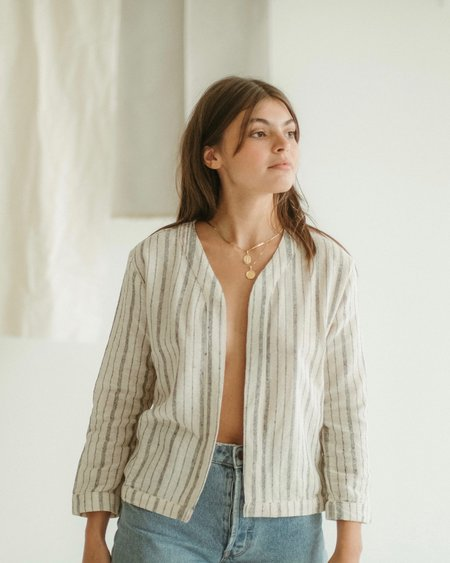 Kat Seaton The Topper jacket - Stripes