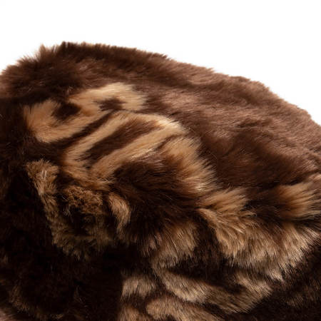 GCDS Fur Fisherman hat - Brown