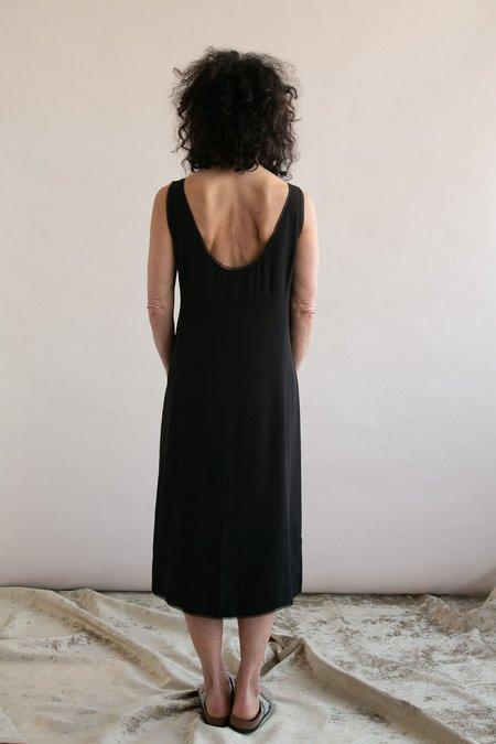 Vintage Silk Slip Dress - Black