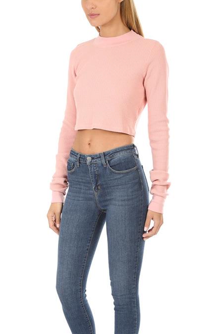 Cotton Citizen Monaco Crop Shirt - Blush