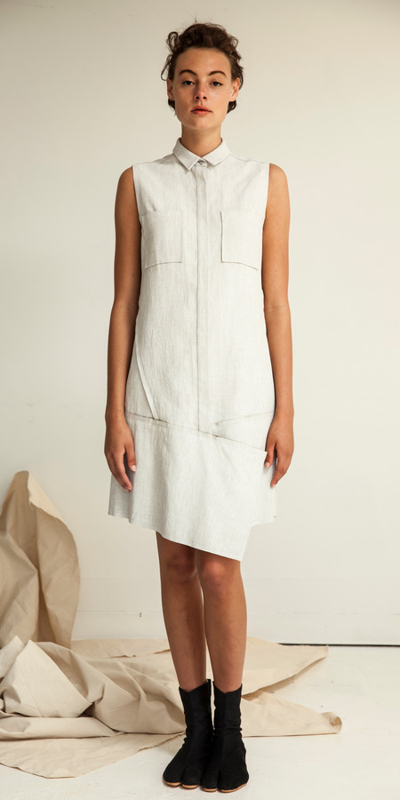 SCHAI Crossover Vest Dress