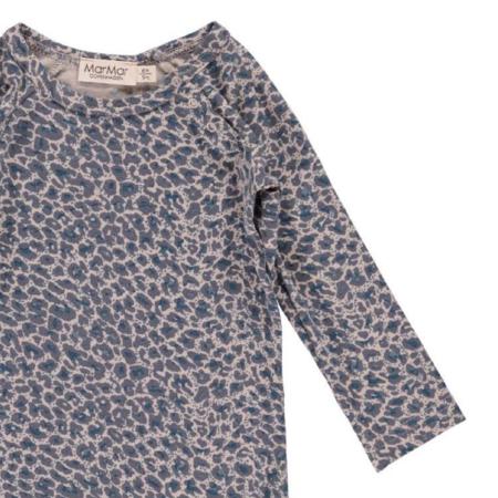 KIDS MARMAR Leopard Longsleeve Bodysuit - BLUE