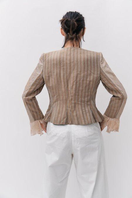 [Pre-loved] Armani Collezioni Blazer - Beige Stripe