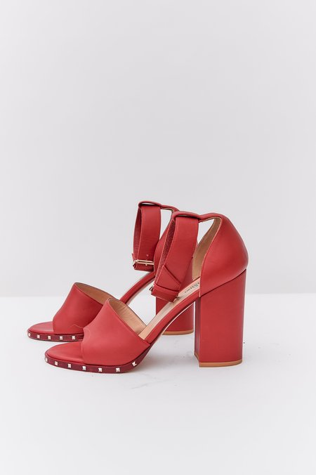 [Pre-loved] Valentino Leather Heels - Red